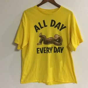Curious George All Day Every Day T-Shirt Yellow XL